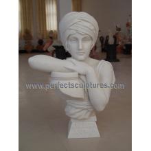 Busto de la cabeza de la estatua del mármol de la escultura de piedra para la decoración casera (SY-S312)