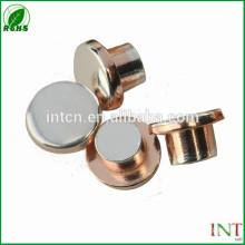 interruptor elétrico peças prateado contatos de cobre