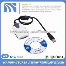 External USB 2.0 to VGA Multi-Monitor Video Converter