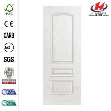 24 in. X 80 in. Palazzo Treviso Liso 3 Painéis Round Top Solid Core Primed Composto Single Prehung Porta Interior