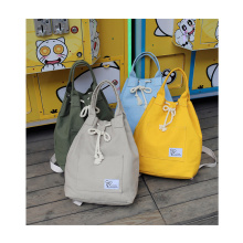 Custom simple colorful durable 12oz canvas backpack