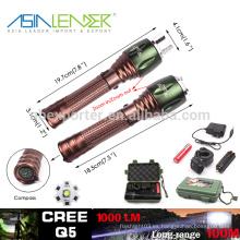 100% brillante 50% brillante rápido SOS lento SOS Powered By 18650 batería de aluminio 5W Cree Q5 deslumbramiento linterna