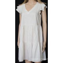 Женская короткая юбка с воланами
