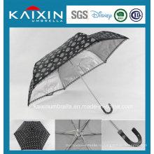 Фабрика фабрики BSCI Модный рисунок Солнце черный зонтик