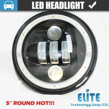 "5 polegadas LED Farol de 5 polegada Farol Redondo para offroad 5 ""LED Baixo Farol de Feixe Baixo para Jeep Wrangler"