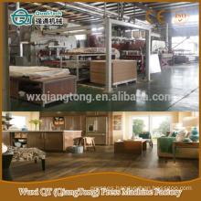Parquet laminated flooring production machinery/ wood textured wooden flooring hot press machine