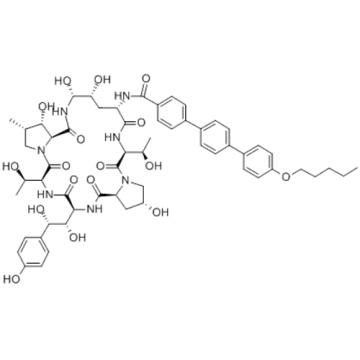 Echinocandin B,1-[(4R,5R)-4,5-dihydroxy-N2-[[4''-(pentyloxy)[1,1':4',1''-terphenyl]-4-yl]carbonyl]-L-ornithine] CAS 166663-25-8