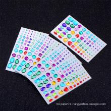 Factory Cheap Custom Diamond Rhinestone Crystal Sticker