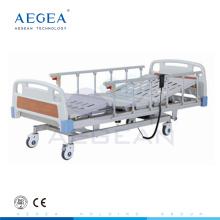 AG-BM104 CE ISO bajo costo aleación de la barandilla 3 posiciones ajustable cama de hospital eléctrica precio de la cama