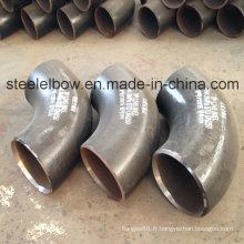 Carbone Pipe en acier raccord grand diamètre coude 90 degrés, A234wpb