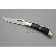 "7"" Copper and Ox Bone Handle Cutting Knife (SE-481)"