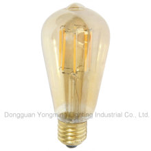Factory Direct Sell 4W/6W St64 Lighting Bulb with Gold Cover