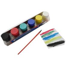6pcs niños Niños que enseñan la pintura de acrílico no tóxico Color de la pintura del dedo