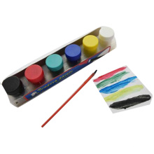 Crianças de 6pcs Crianças que ensinam pintura acrílica Pintura de cor de dedo não tóxico