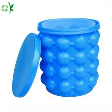 Cubo de hielo portátil del silicón de la categoría alimenticia para viajar