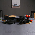 Cooks Essentials Ensemble de batterie de cuisine en fonte 9pcs - Grand bol à mélanger avec support en acacia