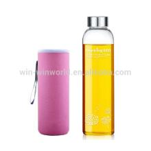 Hand Blown Borosilicate Unbreakable Pyrex Glass Water Bottle 550ML