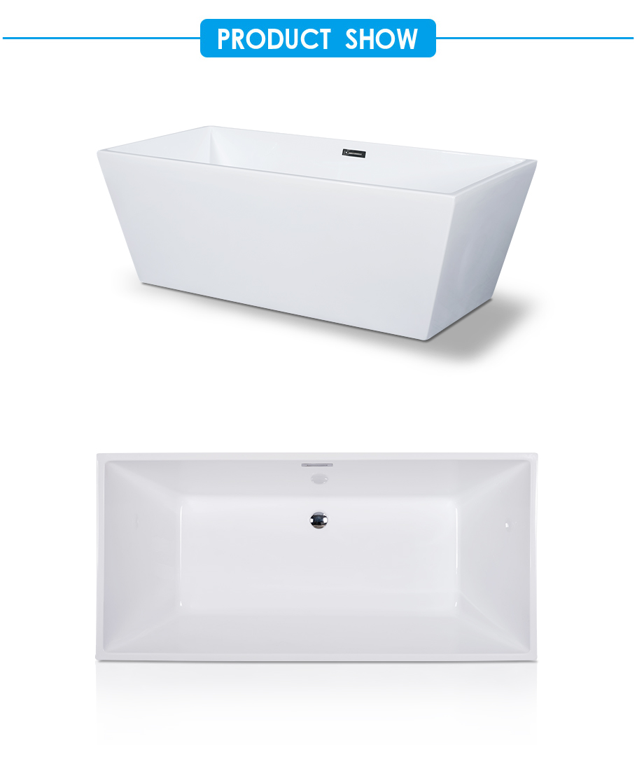 Sara Center Drain Soaking Tub in White