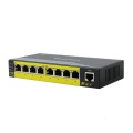10 / 100M 8 portar Obehandlad Ethernet POE-switch