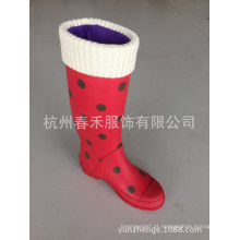 Fleece Rain Boot Meias Liners Wellie Rain Boot Fleece Meias