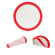 round with customized logo reusable silicone mat for oven and microwave