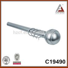 C19490 aluminium metal curtain rod finials,decoration curtain rod accessories, double single curtain pole rod set