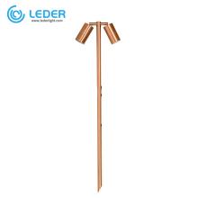LEDER Landscape Outdoor Copper Twin LED Spike Light