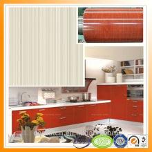 Calidad garantía madera grano acero colorido acero rojo