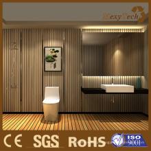 Ternos internos elegantes do painel de parede de WPC para o banheiro