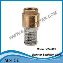 Brass Foot Valve with S. S. Filter (V24-002)