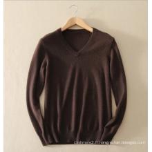 Knittwear basique style100% pull en cachemire pull V-cou pur pull en tricot de cachemire