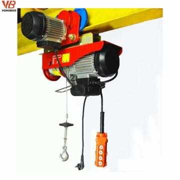 Control remoto inalámbrico 1200kg Mini elevación eléctrica del grúa / de la grúa