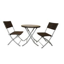 Aluminium außen Falten, Tisch und Stuhl