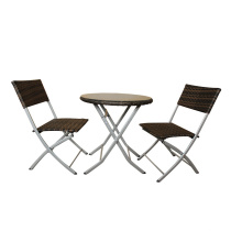 Aluminum Outdoor Folding Dining Table And Chair