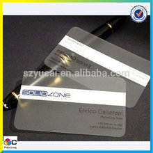Custom shape clear fast business cards