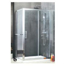 Puerta de ducha de vidrio templado rueda de plástico rodillo