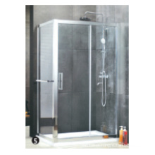 Roda de rolo de plástico de porta de chuveiro de vidro temperado
