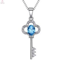 Significado do pendente da prata 925 esterlina do colar chave