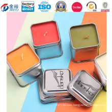 Square Shaped Metal Box Candle Container for Candle Box