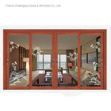 Marcos de aluminio de la ventana del diseño moderno para el vidrio (FT-W120)