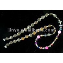 Mode-Design Shell Bead Crystal Glasses Lanyard