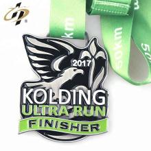 Wholesale logo en émail personnalisé exécutant des médailles de sport en métal
