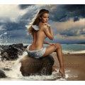 Handgemachte Nackte Kunst Schöne Nackte Frauen Gemälde Leinwand für Zuhause Dekoration (FI-014)