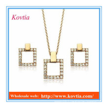 Ensembles de bijoux en or plaqué or 18k Ensemble de bijoux personnalisés en dobai