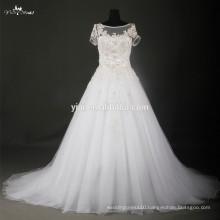 RSW705 Short Sleeves Hard Silver beading Beautiful Bridal Changing Dresses
