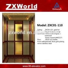 Elevador de Passageiros - Série Hotel ZXC01-110 Design Luxuoso
