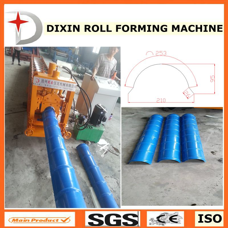 Cap ridge roll forming machine