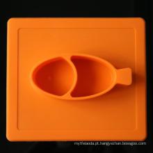 Silicone criativo Placemat do jantar do bebê da isolação
