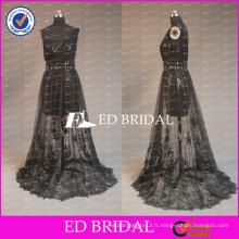 ED Bridal Sexy One Shoulder Sheer Skirt Lace Appliqued Tulle Mère de la robe de mariée pour Lady 2017