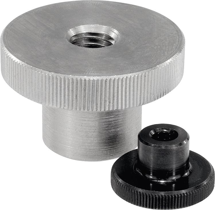 Knurled Nuts With Coliar